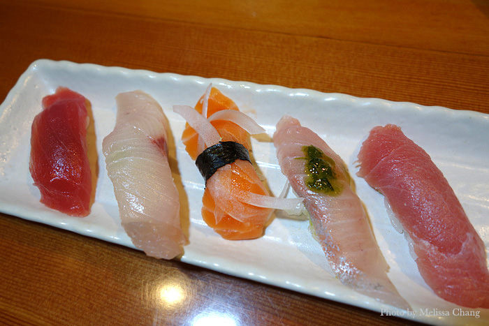 The first set of nigiri to the group.