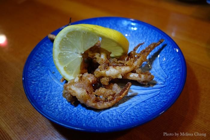 Fried geso, or squid tentacles.