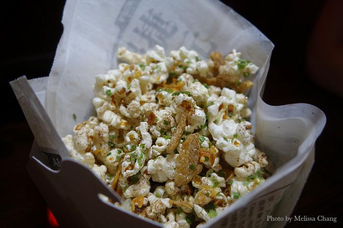 Peking duck fat popcorn, $5.