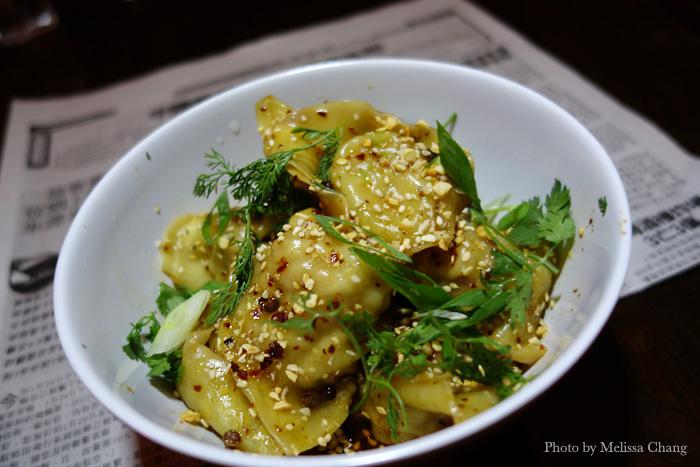 Hong you chao shou (chili wontons), $8.