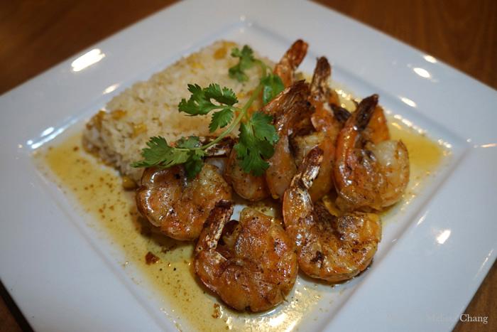 Bistro shrimp scampi, $15.
