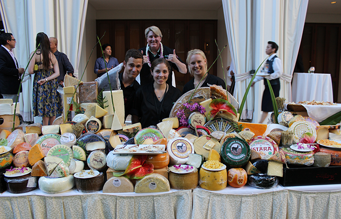 Torrey and his team of cheese experts from the Cheese Shop, Carmel, CA. Photo from the Hawaii Food and Wine Festival 2014.