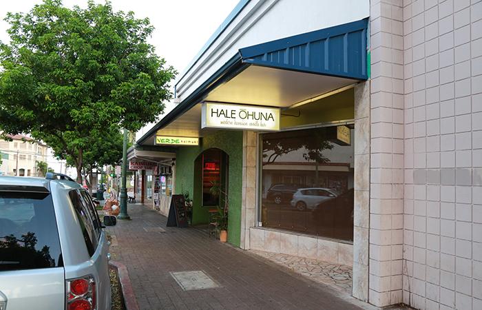Hale Ohuna is on Waialae just past 12th Avenue, near Verde Kaimuki and Coffee Talk.
