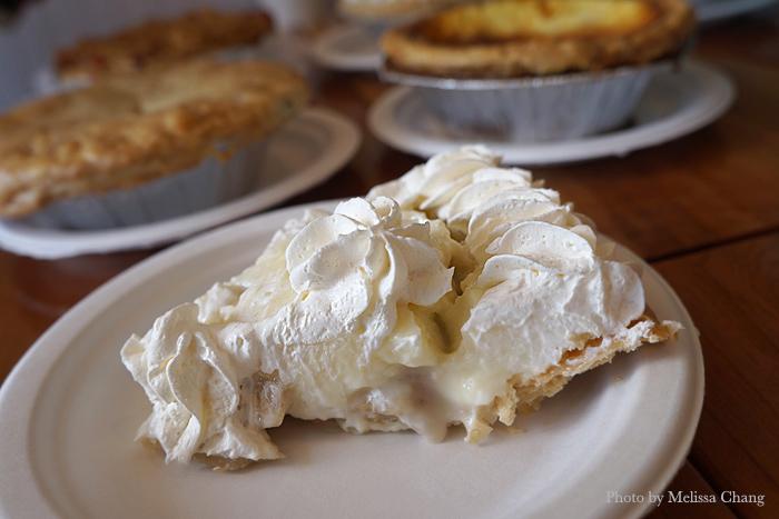 Slice of banana cream pie, $4.95.