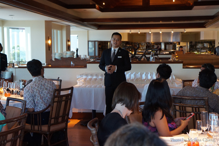 Welcoming remarks from Huy Vo, the public relations manager at the Kahala Resort.