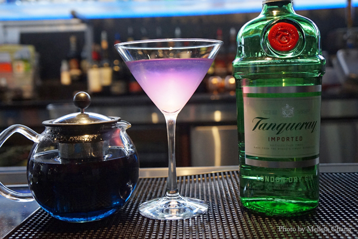 """The evening's special cocktail called """"The Chrysalis."""""""
