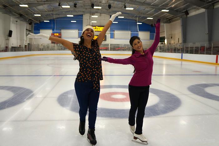Success! Olena skates like a star. Almost.