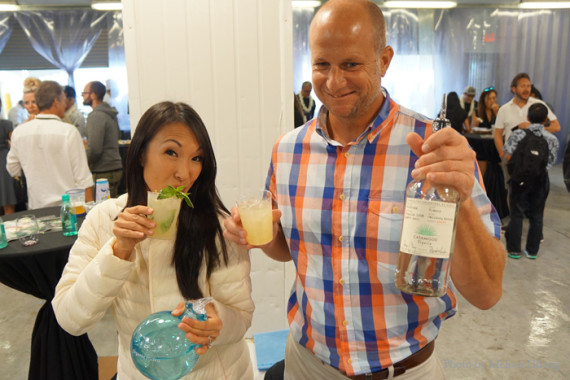One of the big hits of the event, a pho cocktail — that's right, it tasted like pho!