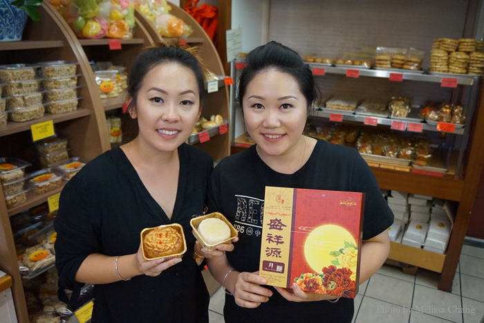 Late-night packing with Liana Fang (left) and her cousin Tiffany Liang at Sing Cheong Yuan.