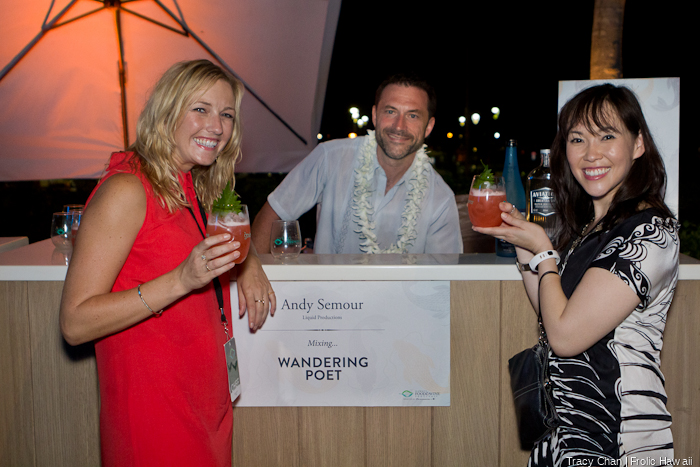 Top mixologist Andy Seymour of New York (Twitter handle @LiquidPimp) was mixing up delicious drinks for the ladies.