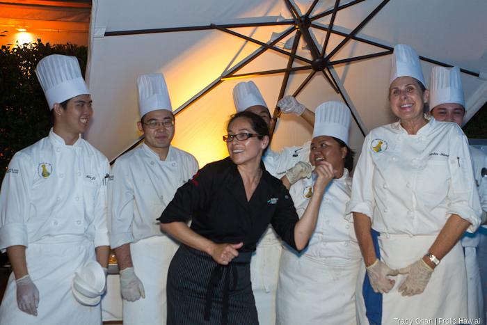 Chef Bobby Chinn's crew was having way too much fun.
