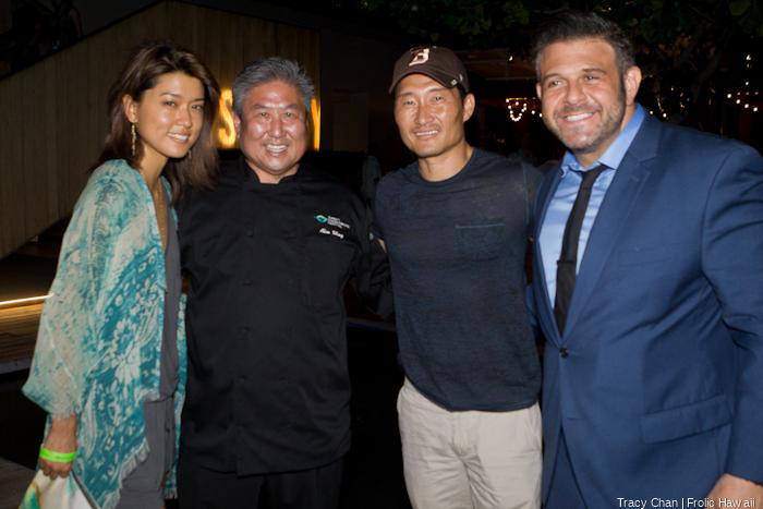 Star power! Grace Park, Chef Alan Wong, Daniel Dae Kim and Man Vs. Food's Adam Richman.