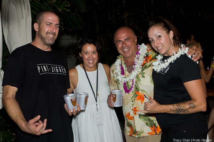 Local mixologist legends Dave Newman (left) and Tony Abou-Ganim (middle) having some nice frozen beers.