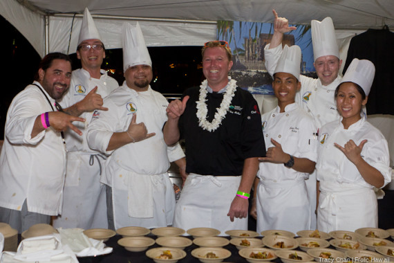 Chef Troy McPhail of Commander's Palace and his crew.