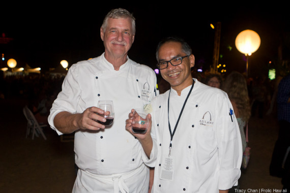 Disney Aulani chefs enjoying the evening.