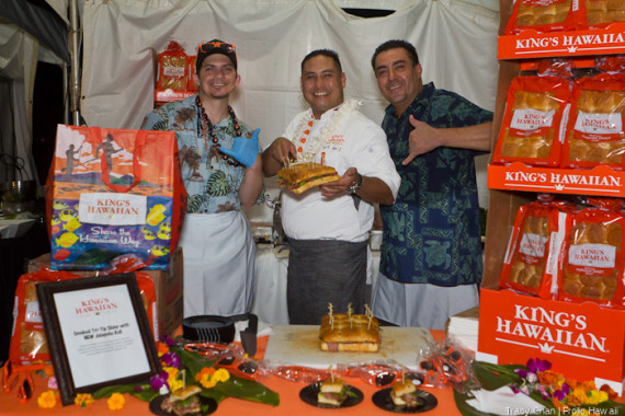 The King's Hawaiian Bread crew, promoting their new jalapeno bread.