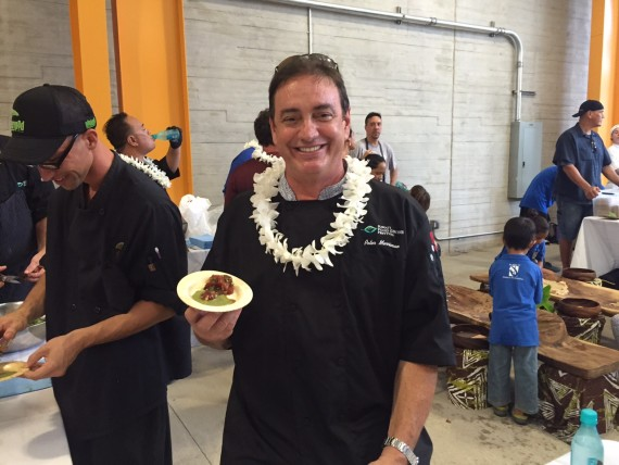 Chef Peter Merriman with his ahi poke dish
