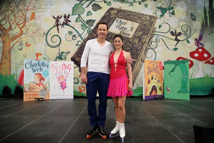 Olympic Gold Medalists Brian Boitano and Kristi Yamaguchi.