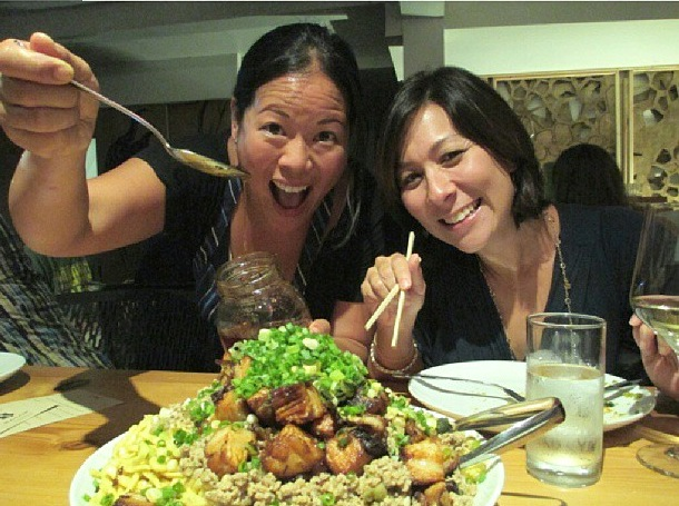 Wong at an earlier dinner.