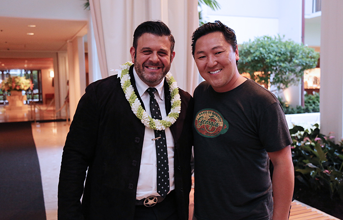 Adam Richman and chef Sang Yoon were spotted at the Masters Gala.