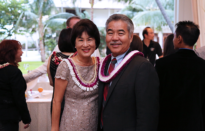 Governor David Ige and his wife Dawn were in attendance.