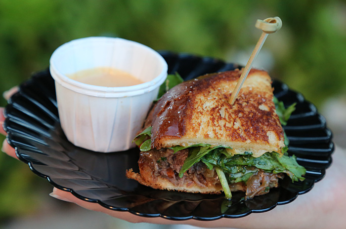 King's Hawaiian - Hawaiian beef stew grilled cheese with lobster bisque. Photo by Grant Shindo.