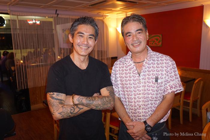 Chez Kenzo chefs Tabo Kishimoto, left, and Kenzo