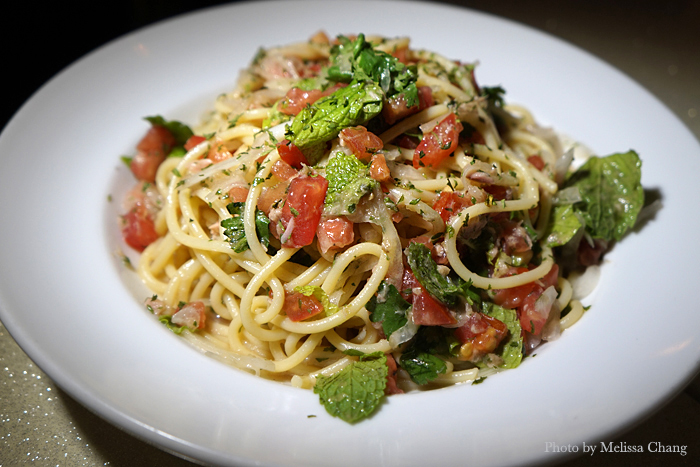 Asian cold pasta, $7. Served for happy hour from 5 to 7 p.m.