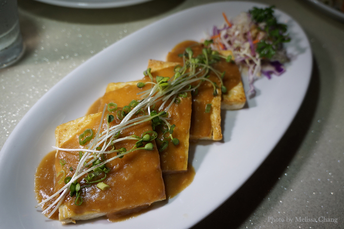 Garlic tofu, $9.
