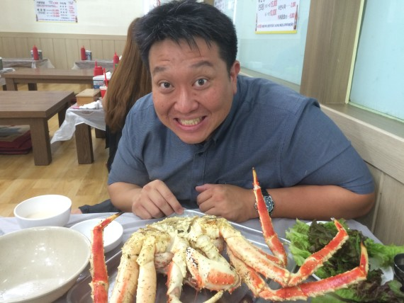 Getting ready to grind on the freshest king crab
