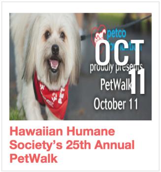 Hawaiian Humane Society 25th Annual PetWalk