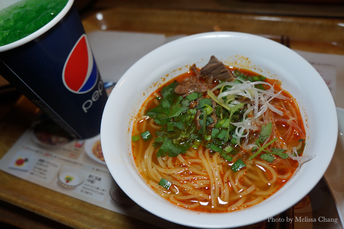 Spicy (not too spicy) Chinese beef noodles. This was actually really good.