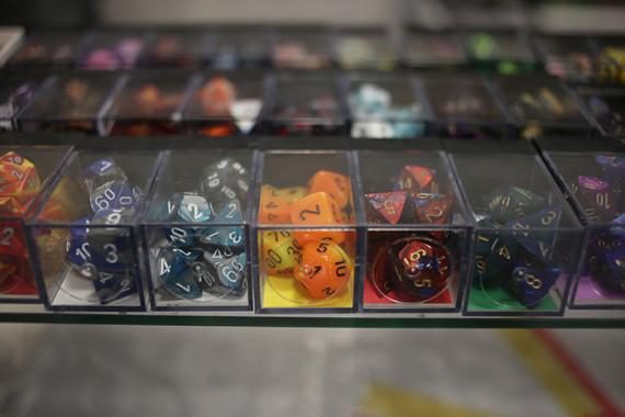 Polyhedral dice: tools of the trade.
