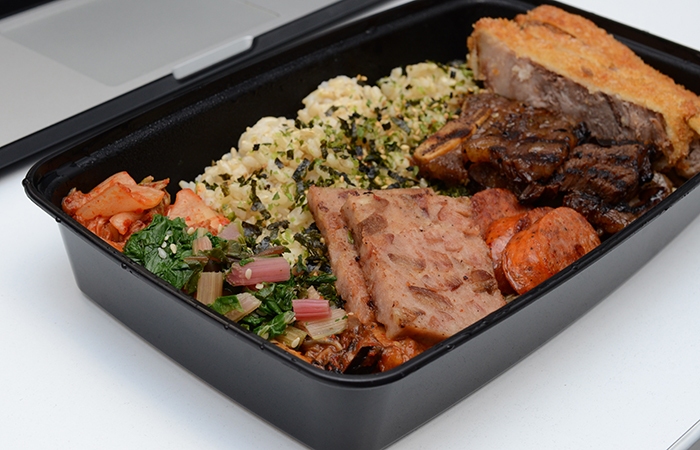A little-known secret: MW makes lunch bentos to order. Expect bentos at Artizen for grab-and-go. Photo by Thomas Obungen