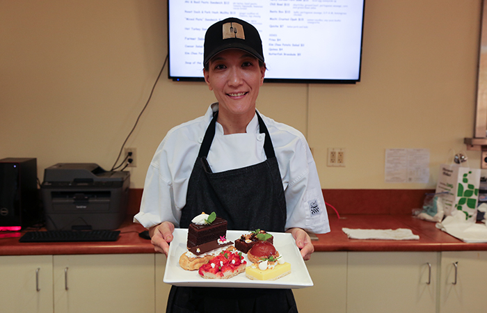 Pastry chef Michelle Karr-Ueoka was nominated for a James Beard award.