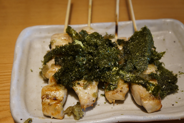 One of my favorites, wasabi yakitori. It's got a little kick!
