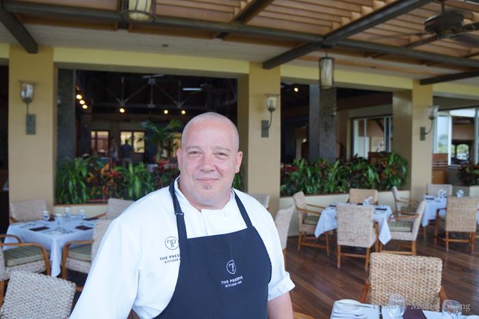 Chef Jason Johnson in The Preserve Kitchen + Bar.