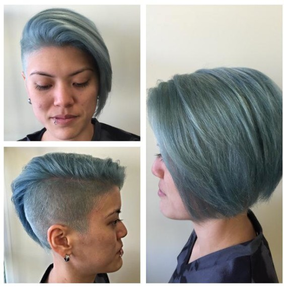 Color varioation called 'mermaid hair' - photo provided by Paul Brown Salons.