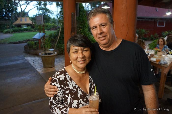 Dania Katz of Edible Hawaiian Islands Magazine and chef Laurent Thibault.