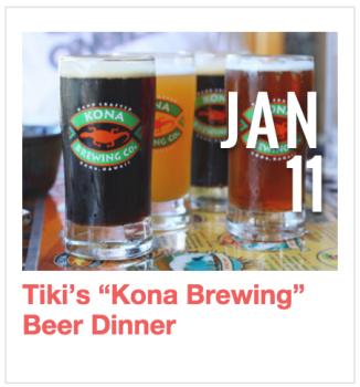 """Tiki's """"Kona Brewing"""" Beer Dinner"""