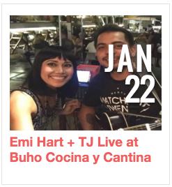 Emi Hart + TJ Live at Buho Cocina y Cantina