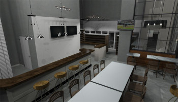 A rendering of the new Village Bottle Shop & Tasting Room.