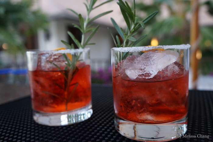 To start: A bold but delicate Veranda Negroni.