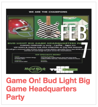 Game on! Bud Light Big Game HQ PArty