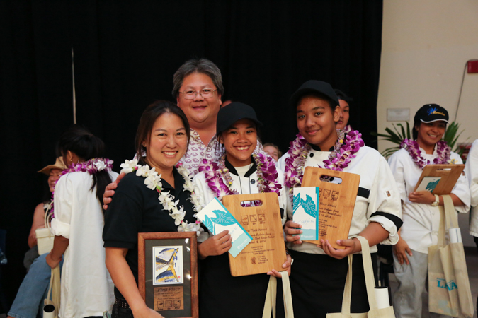 Campbell High School took home first place in the ahi poke bowl contest.