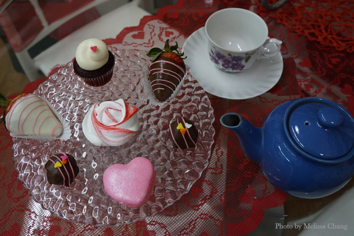 You can get a platter of sweets and a pot of tea for $15.