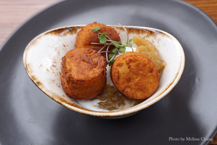 A sample of the chickpea panisse.