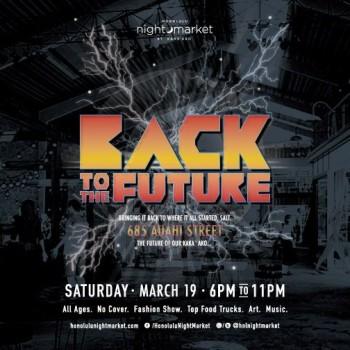 HNL night market Back to the Future