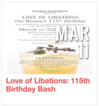 Love of Libations: 115th Birthday Bash