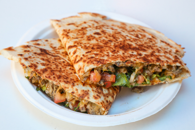 The quesadillas ($12) are fully loaded and a large meal for any appetite. The fresh tortilla has a nice crisp.